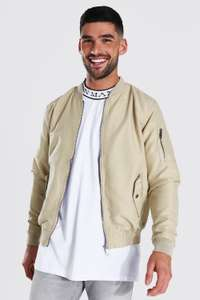 Mens MA1 Bomber Jacket Now £6.30 with code on BoohooMan App plus Free Delivery with code Via App @ BoohooMan