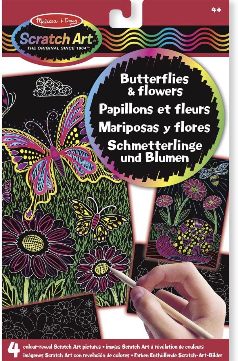 Melissa & Doug Butterflys and Flowers Scratch Art - £1.75 Prime / +£4.49 non Prime @ Amazon