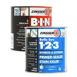 Zinsser B-I-N 1L and Bulls Eye 1-2-3 1L primers double pack £29.99 (Free Collection) @ Brewers