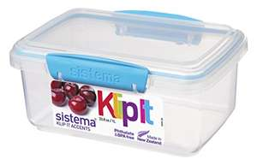 Sistema 61600 KLIP IT Food Storage Container, 1 L - Assorted Colours - £1.43 (+£4.49 non Prime) @ Amazon