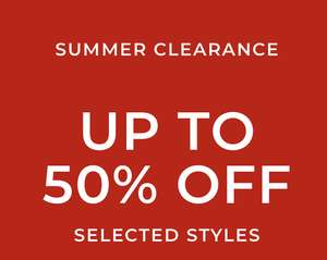 Summer clearance - up to 50% off (+ Free Standard Delivery) @ Clarks Outlet
