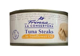 Frinsa Tuna Steak 200g in sunflower oil (150g drained) 89p @ One Below (Maidenhead)