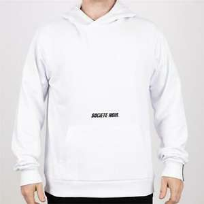 Mens Societe Noir La Vitesse Hoodie White - £9.98 delivered @ bigbrandoutlet2015 / eBay