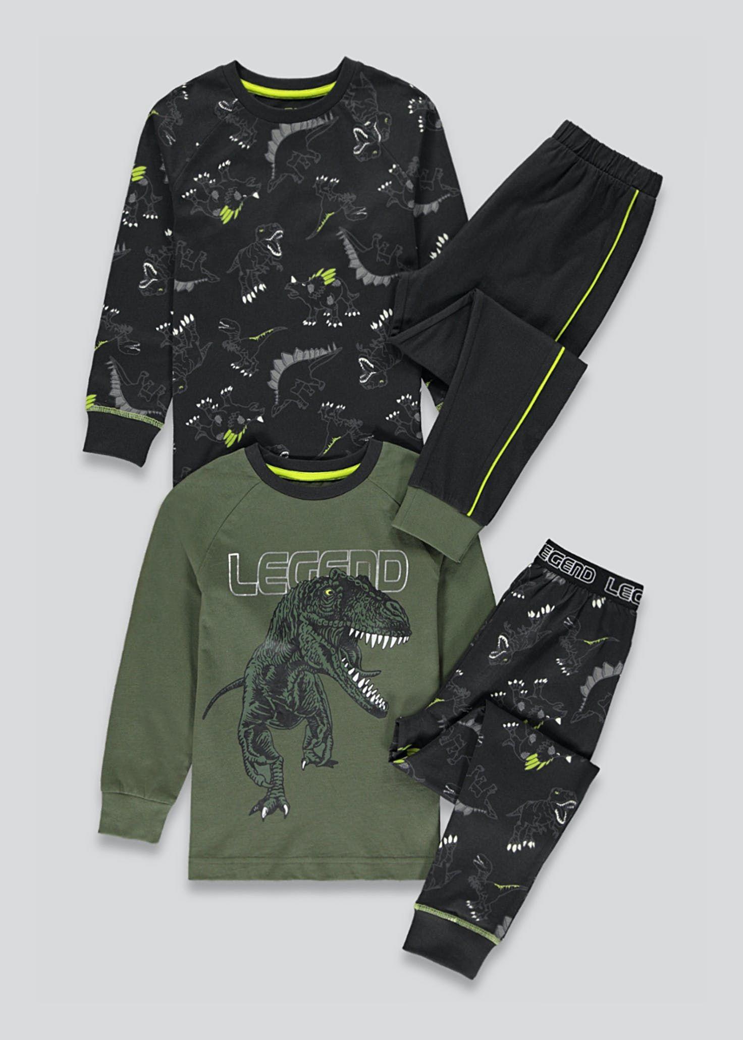 Kids 2 Pack Dinosaur Pyjamas (4-13yrs) - £6 (Free Collection) @ Matalan