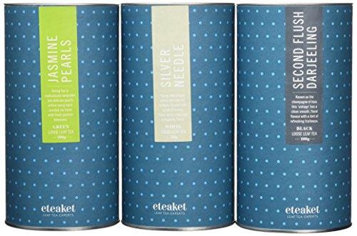 Eteaket The Connoisseur Tea Collection Set - Silver Needle, Second Flush Darjeeling, Jasmine Pearls - £7.33 (+£4.49 Non-Prime) @ Amazon