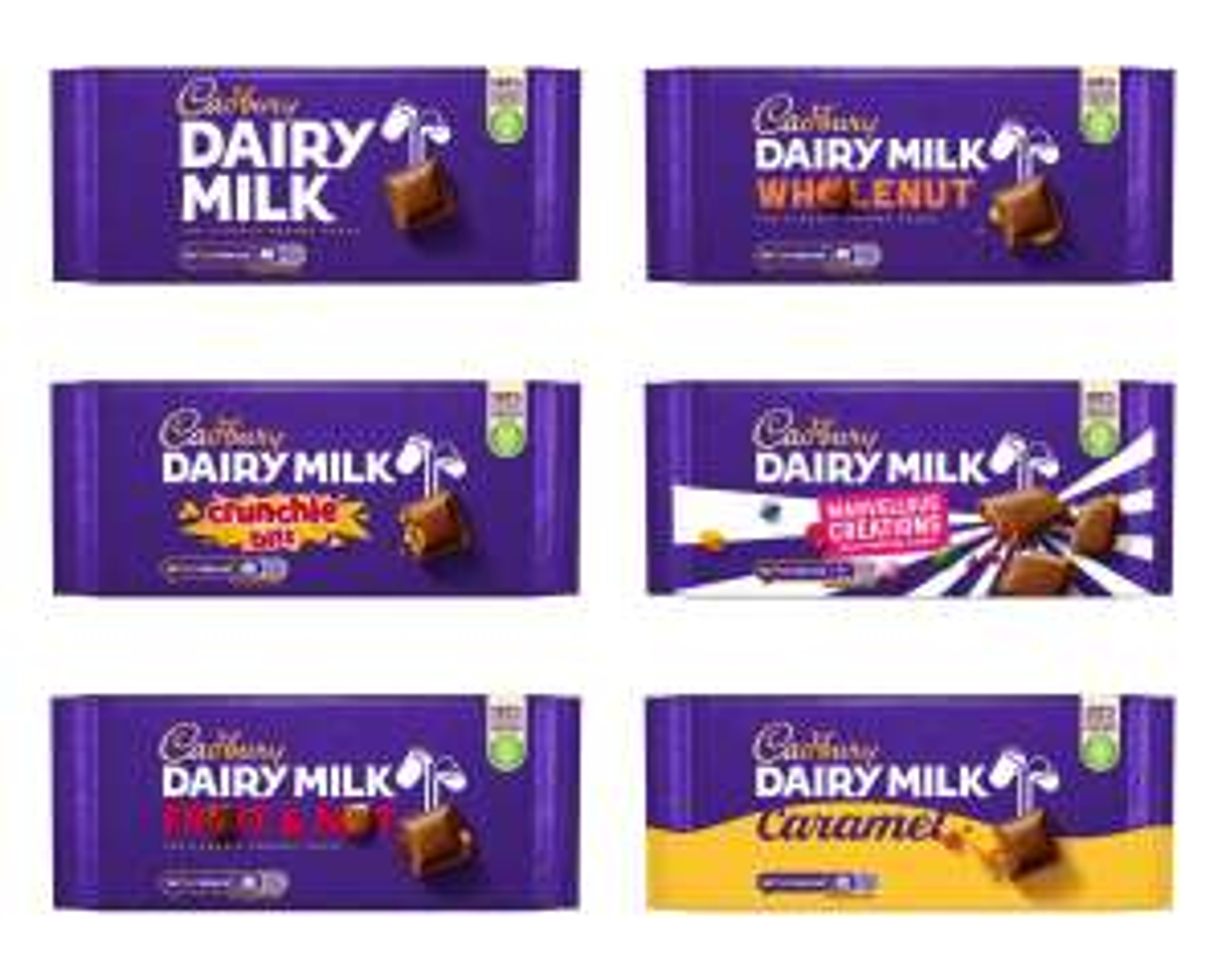Cadbury Dairy Milk/ Fruit & nut/crunchie/whole nut/ caramel 200g/marvellous creations 180g - £1.50 @ Morrisons