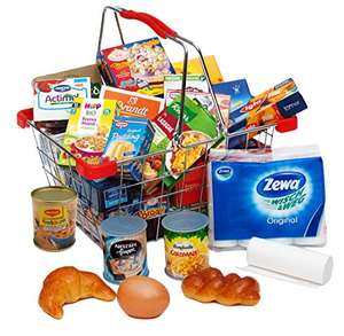 Children's Shopping Basket plus pretend food - £4.06 (+£4.49 Non-Prime) @ Amazon