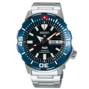 Seiko Prospex Monster Automatic Black Dial Silver Stainless Steel Bracelet Men's Watch - £340 @ Watch Nation