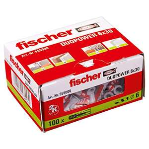 Fischer Duopower wall plugs 6x30 - £2.56 (+ £4.49 postage if non Prime) @ Amazon