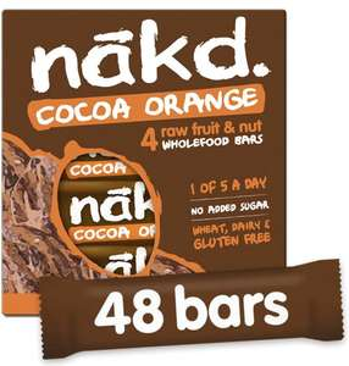Nakd coca orange 48 bars - £12.63 (+£4.49 Non-Prime)