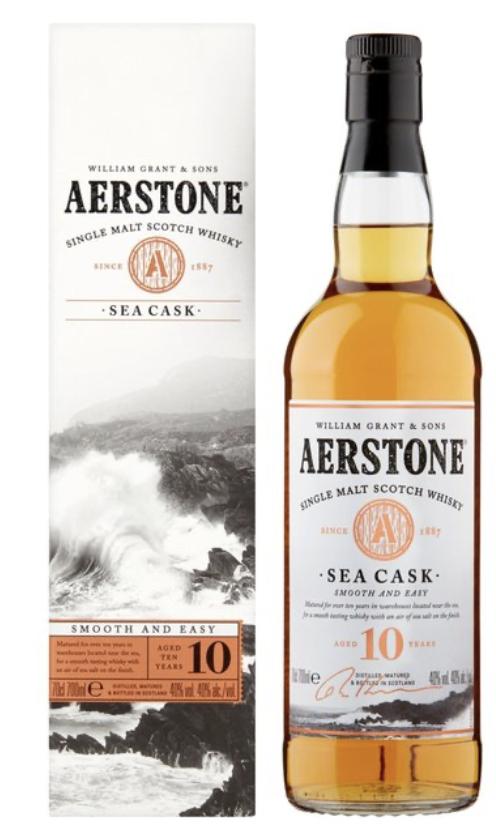 Aerstone single malt 10 year old whisky sea cask - £15 @ Ocado