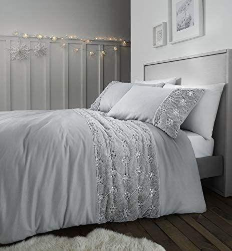 Catherine Lansfield Cosy Snowflake King Duvet Set Silver £10.23 Prime at Amazon (+£4.49 non Prime)