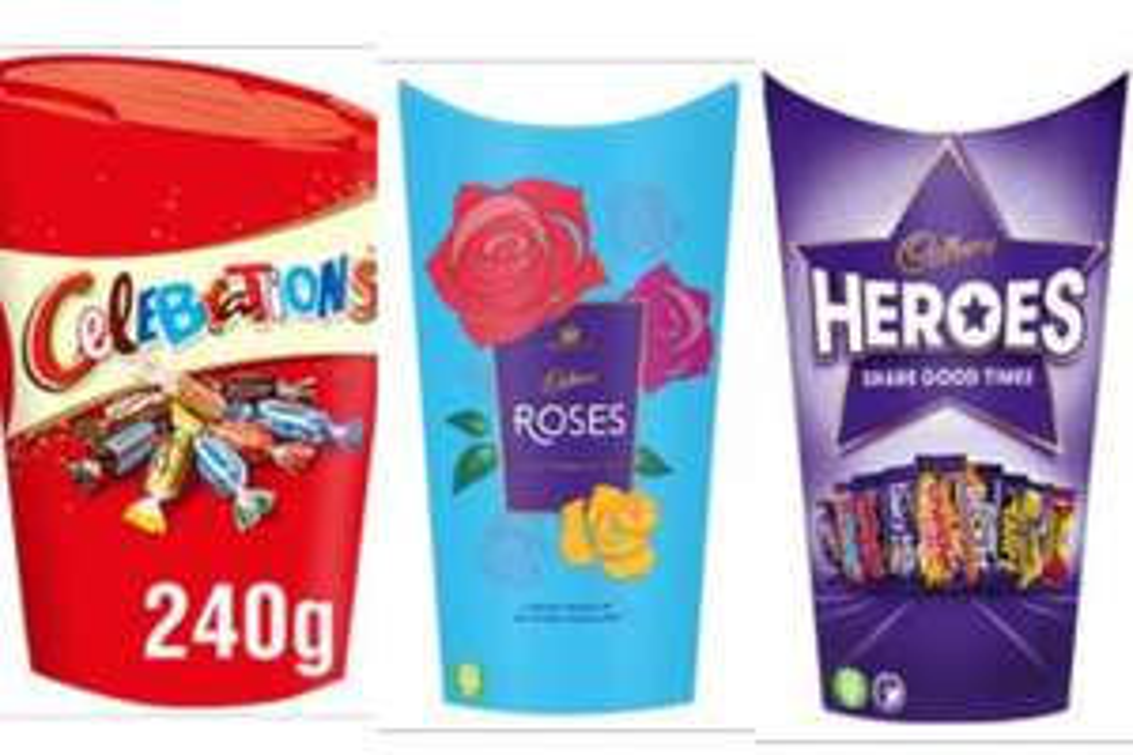 Cadbury Roses 290g / Celebrations 240g / Cadbury Heroes 290g - £2 (Clubcard, Min Spend / Delivery Fee Applies) @ Tesco