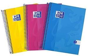 Oxford Touch A5 Notebook Hardcover, 160 Page, Pack of 3 - £3.99 @ Amazon (+£4.49 non-prime)