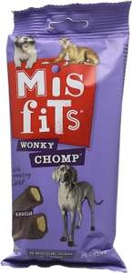 Misfits Wonky Chomp Dog Treats for Dogs From 10-25kg, (12 x 170g) £5.62 / £4.50 with s&s and 10% voucher (+£4.49 Non Prime) @ Amazon