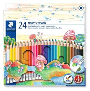STAEDTLER 144 50NC24 Noris Club Erasable Colouring Pencils - Assorted Colours, Pack of 24 - £3.06 delivered / (+£4.49 Non Prime) @ Amazon