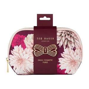 Ted baker small cosmetic & Pvc wash bags £5/ Ted Baker large Beauty Wash Bag £10 only +free Collection @ Boots