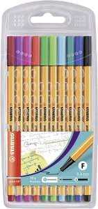 PRICE DROP! Fineliner - STABILO point 88 Wallet of 10 Assorted Colours £2.34 (+£4.49 Non Prime) @ Amazon