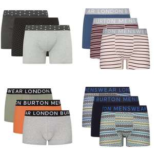 3 Pack Trunks S - XL (12+ Colour Options) £8.16 & Free Next Day Delivery With Code @ Burton