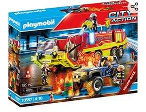 Playmobil 70557 City Action Fire Engine with Truck, Incl. Light and Sound Effects, for Children Ages 4 - 10 £26.82 @ Amazon