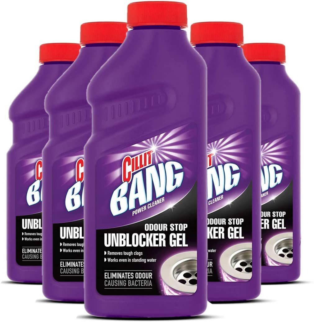 Cillit Bang Power Cleaner Odour Stop Unblocker Gel (Pack of 5) £9.50 @ Amazon (£4.49 p&p non prime) £8.08/£8.55 s&s