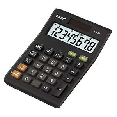 CASIO - Desk Calculator, Black, 8 Digits £6.04 prime +£4.49 P&P non prime @ Amazon