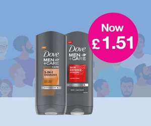 Daily Deal - 400ml XL Dove Men + Care Body Wash £1.51 - Free Click & Collect (Beauty Card Members only) @ Superdrug