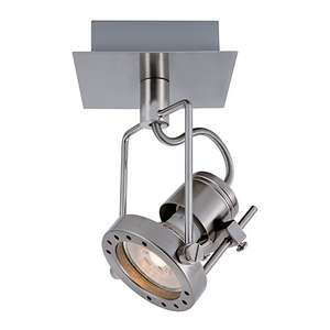 Wickes Studio LED Brushed Chrome Single Spotlight - 5.3W now £7.64 @ wickes - Click & Collect