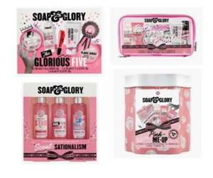 Soap & Glory Glorious Five Gift Set, Scentsationalism Gift Set, Original Pink Mini tin, Set Up travel bag from £7.50 + Free Collection Boots