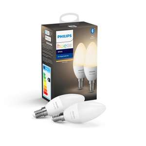 Philips Hue White Smart Candle Bulb Twin Pack LED £18.00 (+£4.49 nonPrime) at Amazon