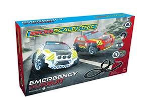 Micro Scalextric G1132 Emergency Pursuit Slot Car Racing £31.67 delivered at Amazon