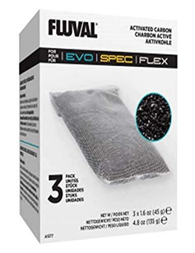 Fluval Replacement Carbon for Fluval Flex/Spec/Evo Aquarium Filters - 3 bags £2.97 (Prime) + £4.49 (non Prime) at Amazon
