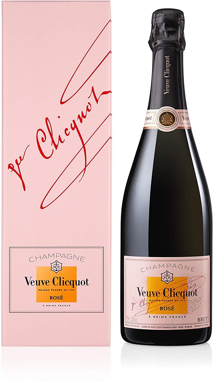 Veuve Clicquot Champagne Rose Non Vintage 75cl Gift Box - £32.02 @ Amazon