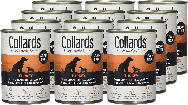 Collards Grain Free Complete Wet Dog Food Turkey in Gravy 12 x 390g - £6.34 (+£4.49 nonPrime) at Amazon