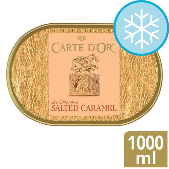 Carte D'or Salted Caramel Ice Cream Dessert 1000Ml - 7 flavours £2 club card price @ Tesco