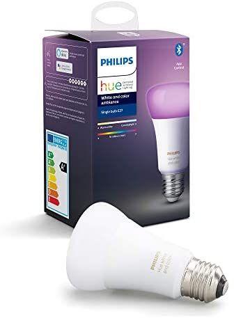 Philips Hue White and Colour Ambiance Single Smart Bulb LED [E27 Edison Screw] £28 @ Amazon