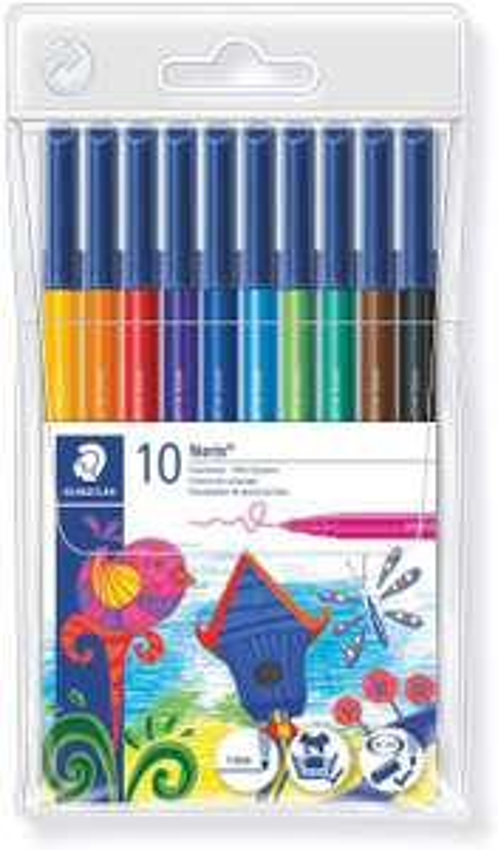 Staedtler Noris Club 326 WP10 Fibre Tip Pen in Wallet, Assorted Colours, Pack of 10 £1.42 (£4.49 p&p non prime) @ Amazon