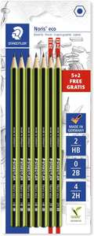 Staedtler Noris Eco Pencils - Assorted (Blistercard of 7) £1.49 (£4.49 p&p non prime) @ Amazon