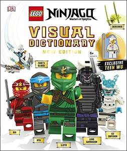 LEGO NINJAGO Visual Dictionary: New Edition: With Exclusive Teen Wu Minifigure Hardcover Book £10 (+£2.99 Non Prime) at Amazon