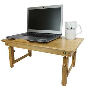 M&W Bamboo folding laptop stand for £13.49 delivered @ eBay / Roov