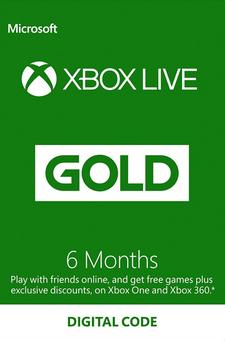 [Xbox] 6 Months Xbox Live Gold Membership - £17.99 @ CDKeys