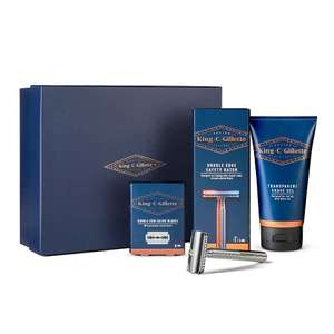 King C Gillette Double Edge Razor Shaping Kit (Double Edge Safety Razor, 15 x blades and 150ml shave gel) for £21.33 delivered @ Gillette