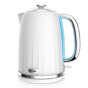 Breville Impressions Electric Kettle, 1.7 Litre, 3 KW Fast Boil, White £24 / Kettle & Toaster Set for £48 - @ Amazon