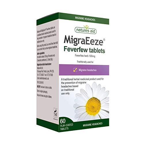 Natures Aid MigraEeze Feverfew, Prevent Migraine Headaches, Vegan, 60 Tablets £3.53 (Prime) + £4.49 (non Prime) at Amazon