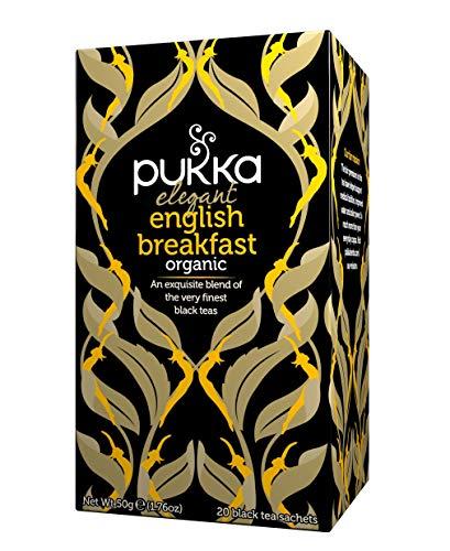 Pukka Elegant English Breakfast, Organic Black Tea with Nam Lanh (4 Packs X 20 Tea Bags) £3.05 Prime (+£4.49 Non-Prime) @ Amazon