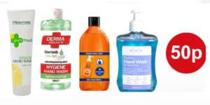 Fa Liquid Orange 385ml / PHR 500ml / Meller Russell Apple 500ml / Creighton pure touch 250ml hand wash 50p each + Free Collection @ Boots