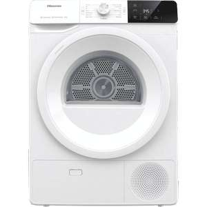 Hisense DHGE901 9Kg Heat Pump Tumble Dryer A++ Rated £354 with code (plus possible £50 cashback) UK Mainland @ AO