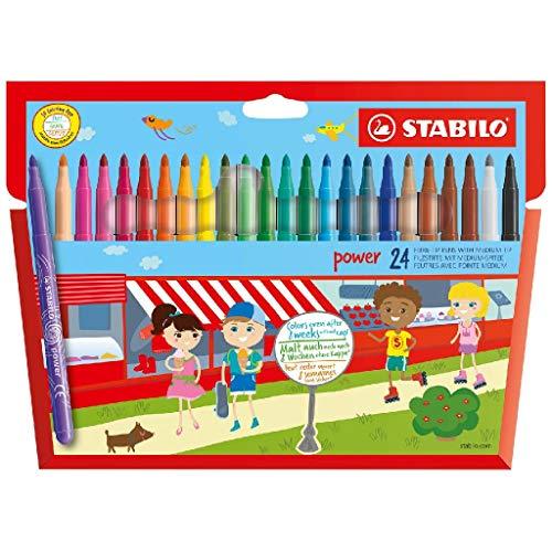 STABILO felt tip pen wallet, 24 pack - £2.43 Prime (+£4.49 Non Prime) @ Amazon