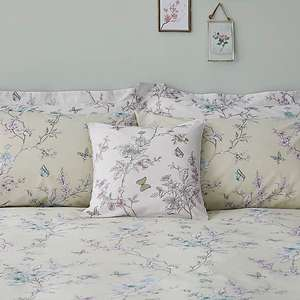 Lauren Embroidered White Cushion now £3 (Free collection) @ Dunelm