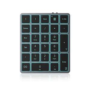 Bluetooth Backlit Numeric Rechargeable Keypad, Jelly comb £9.99 + £4.49 Sold by Oleis and Fulfilled by Amazon